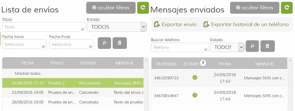 Confirmación de Entrega de SMS