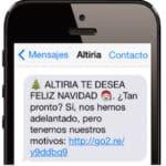 SMS Feliz Navidad Altiria
