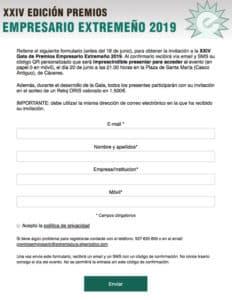 Web de registro con QR